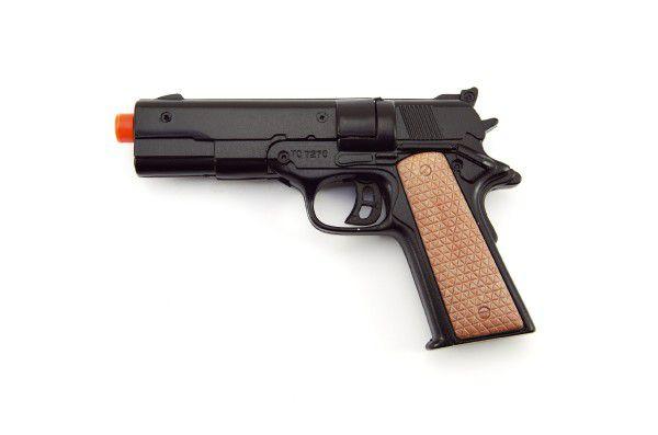 Pistole kapslovka 12cm kov 8 ran na kartě