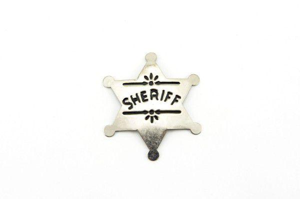 Šerifská hvězda odznak kov 6cm na kartě