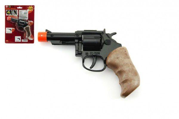 Teddies pistole kapslovka kov 11 cm 8 ran na kartě