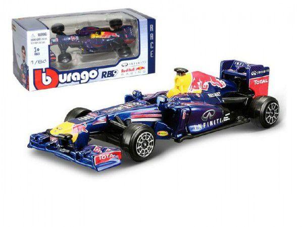 Formule Bburago kov 8cm Red Bull 1:64 volný chod