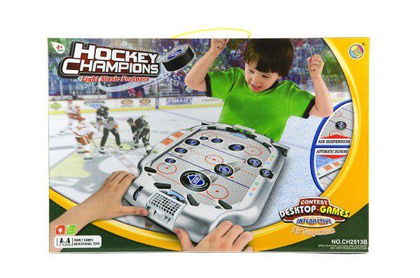 Hokej plast na baterie se zvukem se světlem v krabici 51x35x9cm