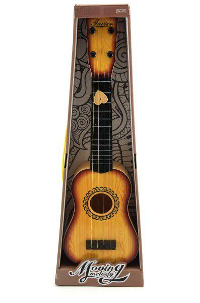 Kytara 4 struny (ocelové) + trsátko plast 54cm asst 2 barvy v krabici