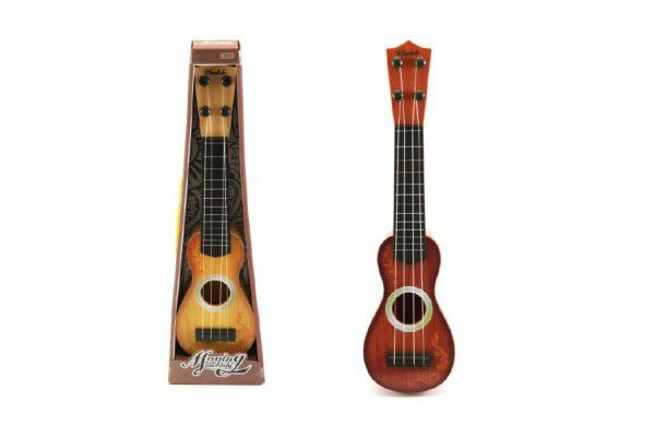 Kytara/Ukulele 4 struny plast 37cm asst 2 barvy v krabici