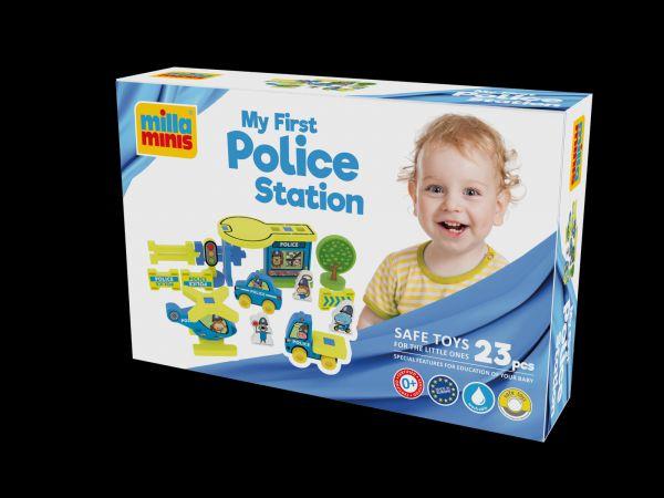 Moje první policejní stanice pěna 25ks v krabici 30x20x7cm 0+