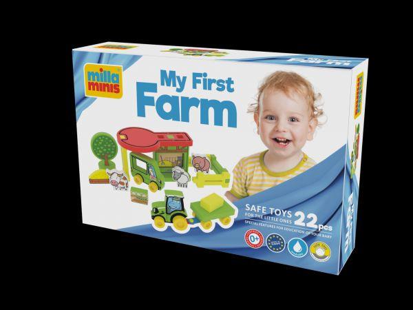 Moje první farma pěna 25ks v krabici 30x20x7cm 0+