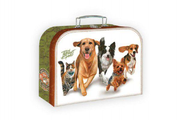 Školní kufřík běžící psi 20x15cm