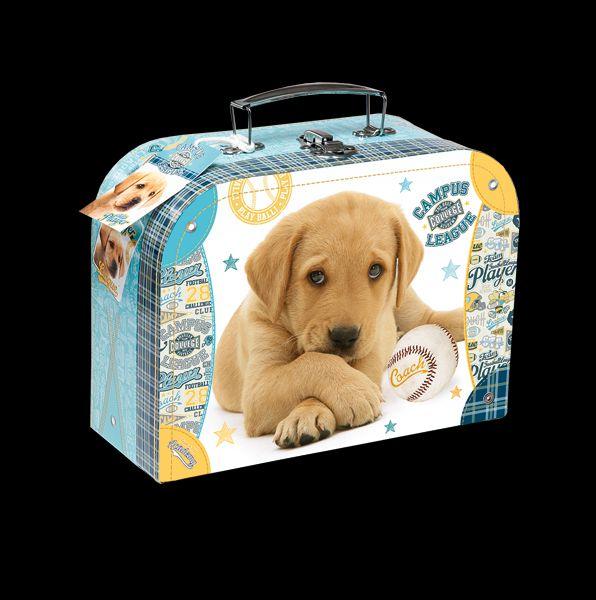 Školní kufřík ležící štěně 25x19cm