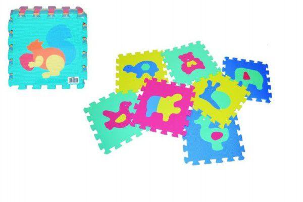 OEM Pěnové puzzle Zvířata 30x30cm 10ks v sáčku TD50509