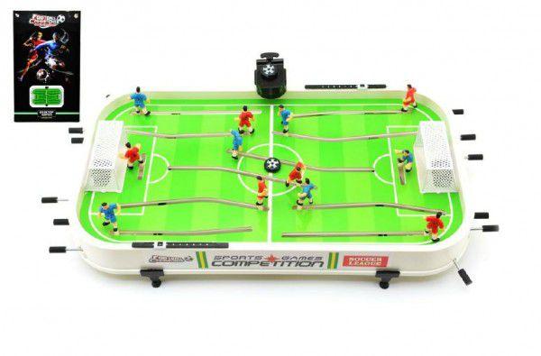 Kopaná/Fotbal společenská hra 60x36x8cm plast kovová táhla bez počítadla v krabici