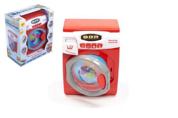 Teddies Pračka plast 22cm na baterie se zvukem a světlem v krabici