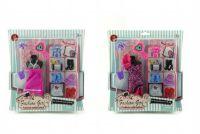 Šaty/Oblečky boty doplňky na panenky 25x27cm asst na kartě