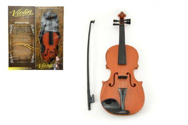 OEM Housle Viola plast 45cm na baterie se zvukem se světlem v krabici