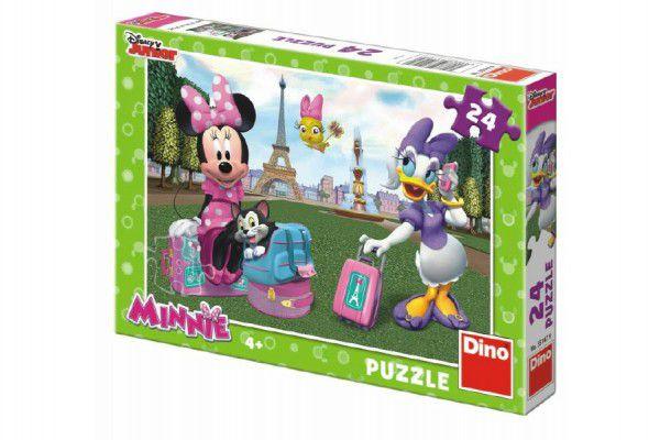 Teddies Minnie v Paříži 26,4x18,1cm v krabici 27x19x3,5cm 24 dílků