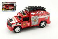 Auto hasiči plast 25cm na setrvačník na baterie se zvukem se světlem v krabici