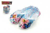 Balerínky/boty pro dívky látkové 9cm v sáčku