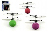 Vrtulníková koule plast 10cm s USB kabelem na nabíjení asst 3 barvy v krabičce