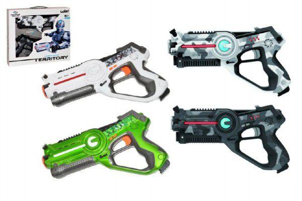 OEM pistoleTerritory laser game set 2ks plast na baterie asst 2 barvy v krabici