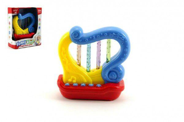 TEDDIES Plastová Harfa na baterie se zvukem a světlem