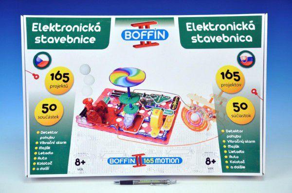 Stavebnice Boffin II. Motion 165 elektronická 165 projektů na baterie 50ks v krabici 53x35x8cm