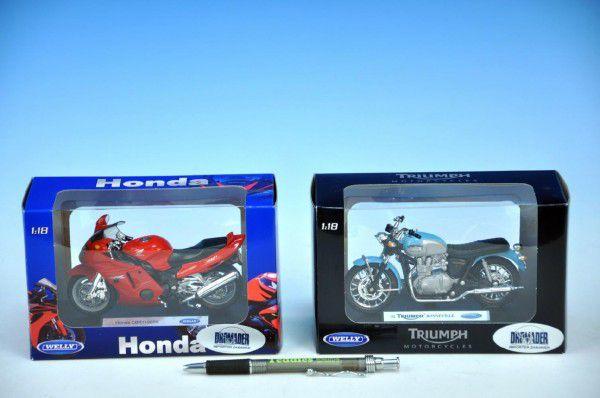 Welly Motocykl Honda F6 C model černá 1:18