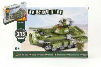 Stavebnice Dromader Vojáci Tank 22502 213ks v krabici 32x21,5x5cm