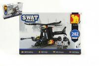 Stavebnice Dromader SWAT Policie Vrtulník 202ks plast v krabici 32x21,5x5cm