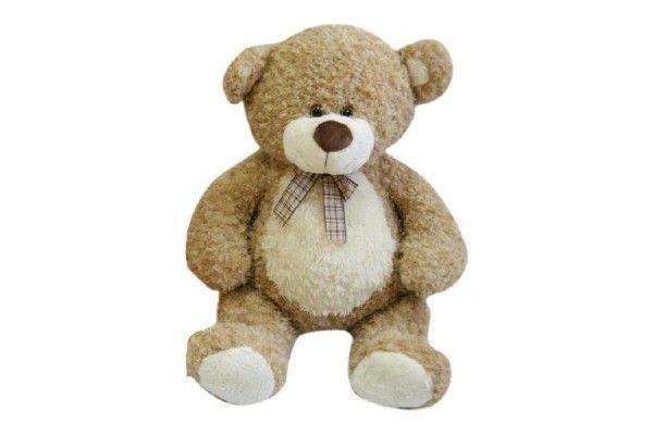 Medvěd s mašlí velký plyš béžový 80cm