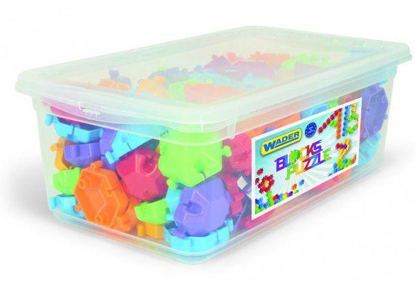 Kostky Puzzle plast 120ks v plastovém boxu 33x12x19cm Wader