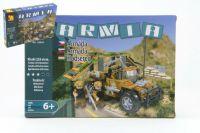 Stavebnice Dromader Vojáci Auto 22503 228ks v krabici 32x21,5x5cm