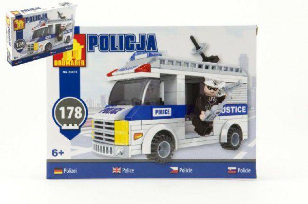 Teddies Dromader Policie 23415 Stavebnice Auto 178ks v krabici 25,5x18,5x4,5cm