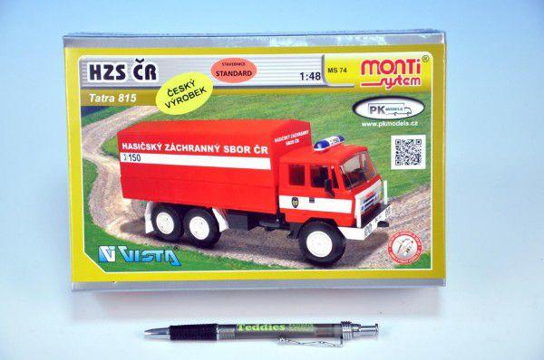 Stavebnice Monti 74 Tatra 815 HZS ČR v krabici 22x15x6cm 1:48
