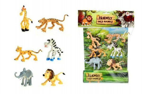 Teddies Veselá zvířátka Safari 6ks v sáčku