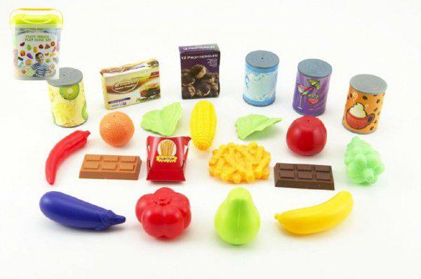 Teddies Ovoce a zelenina 60ks/Kuchyňské nádobí 42ks doplňky plast