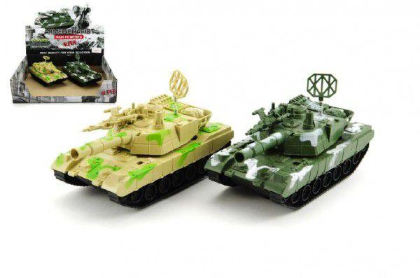 Tank plast 15cm na setrvačník asst 2 barvy 6ks v boxu