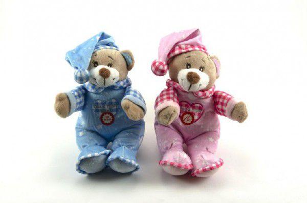 Medvídek s čepicí chrastítko plyš 30cm asst 2 barvy