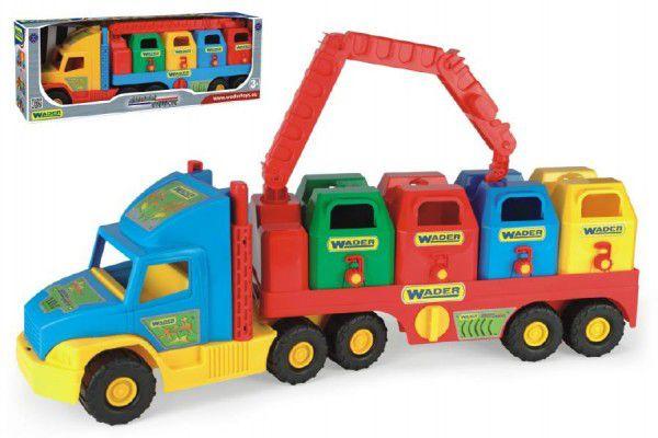 Super Truck Wader Auto popeláři plast 7v krabici
