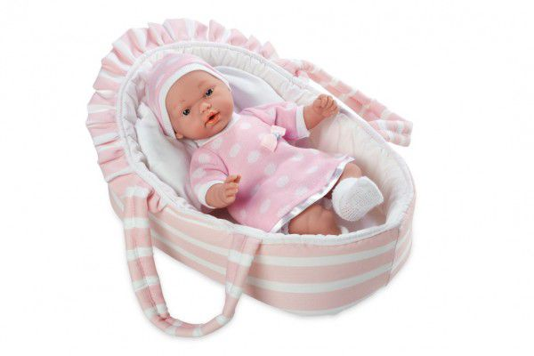 Panenka/miminko Arias vonící 28cm růžové měkké tělo v tašce na baterie v sáčku