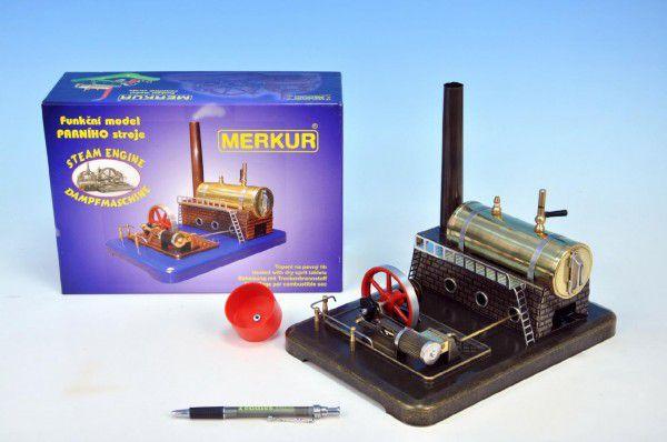 MERKUR Funkční model parního stroje Medium krabici 28,5x20x11,5cm