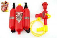 Sada malý hasič dělo na vodu 30cm + nádrž 20x30cm plast v sáčku