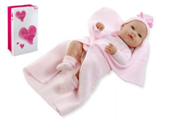 Arias Panenka/miminko 42cm růžové tvrdé tělo