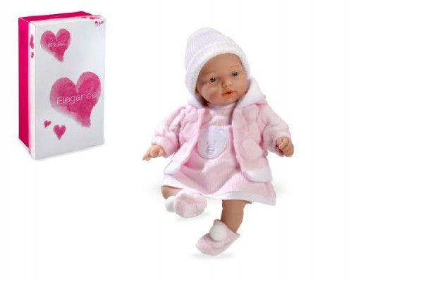 Panenka/miminko Hanne 28cm růžové měkké tělo se zvukem na baterie v krabici