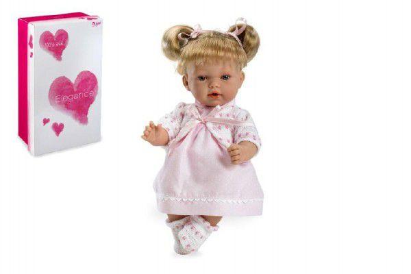 Panenka/miminko Andrea 28cm růžové se zvukem na baterie v krabici