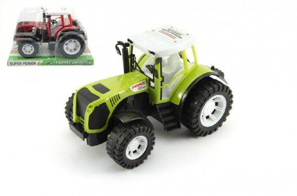 Traktor plast 26cm na setrvačník asst 2 barvy