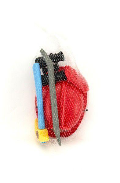 Sada nařádí hasič s přilbou plast 6ks v síťce 20x34cm