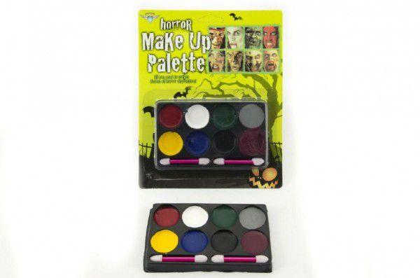 Barvy na obličej na kartě asst 3 barevné kombinace 17x21x1,5cm karneval