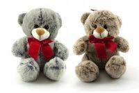 Medvěd s mašlí plyš 26cm asst 2 barvy