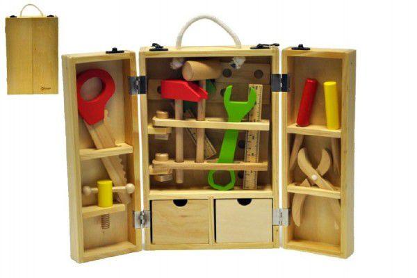 Teddies Dřevěné nářadí v kufříku 25 ks