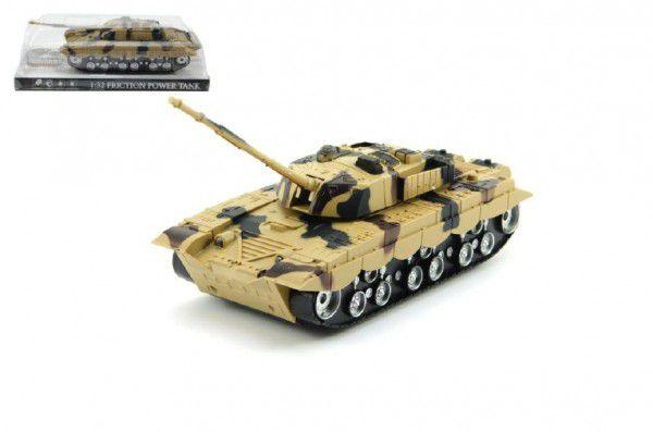 Teddies Tank plast 27cm na setrvačník na baterie se světlem se zvukem v krabičce