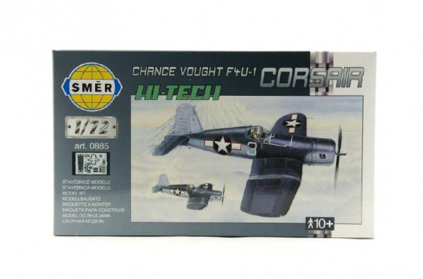 Směr Model Chance Vought F4U 1 Corsair HI TECH 14,1x1,73cm v krabici 25x14,5x4,5cm 1:72