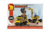 Stavebnice Dromader bagr + nákladní auto 29506 293ks v krabici 35x25x6cm